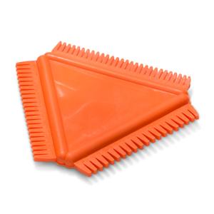 Rubber kam orange Encaustic Art