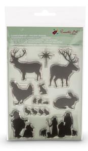 Clear Stamps feestdagen Encaustic Art