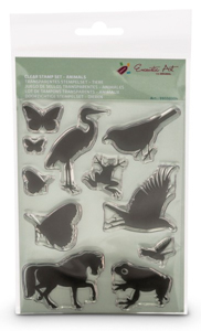 Clear Stamps dieren Encaustic Art