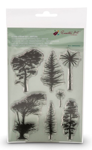 Clear Stamps natuur Encaustic Art