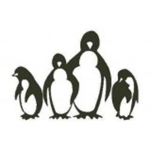 Pinguin stempel Encaustic Art