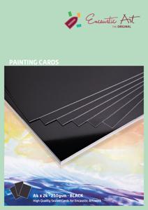 A4 zwart Encaustic Art papier