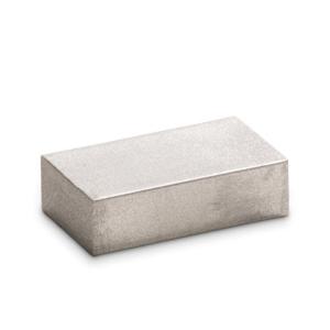 Zilvermetallic 26 - Encaustic Art wasblokje