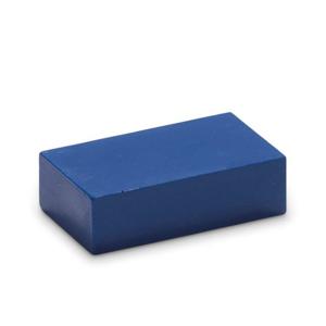 Blauw 09 - Encaustic Art wasblokje