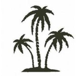 Palmboom stempel - Encaustic Art