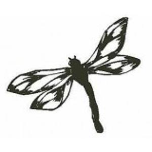 Libelle stempel - Encaustic Art