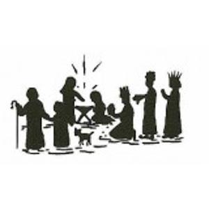 Heilige familie stempel - Encaustic Art