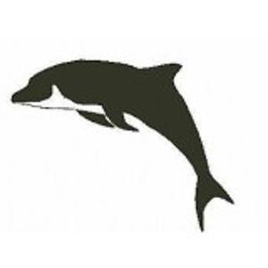 Dolfijn stempel - Encaustic Art