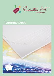 A6 x 50 Encaustic Art papier