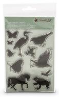 Clear Stamps dieren Encaustic Art