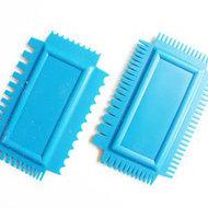 Rubber kammen blauw